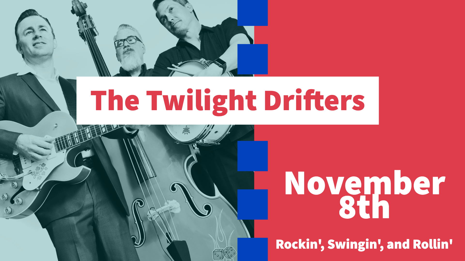 The Twilight Drifters make their Midtown Stomp debut on November 8th, 2019. Don't miss out on the fun