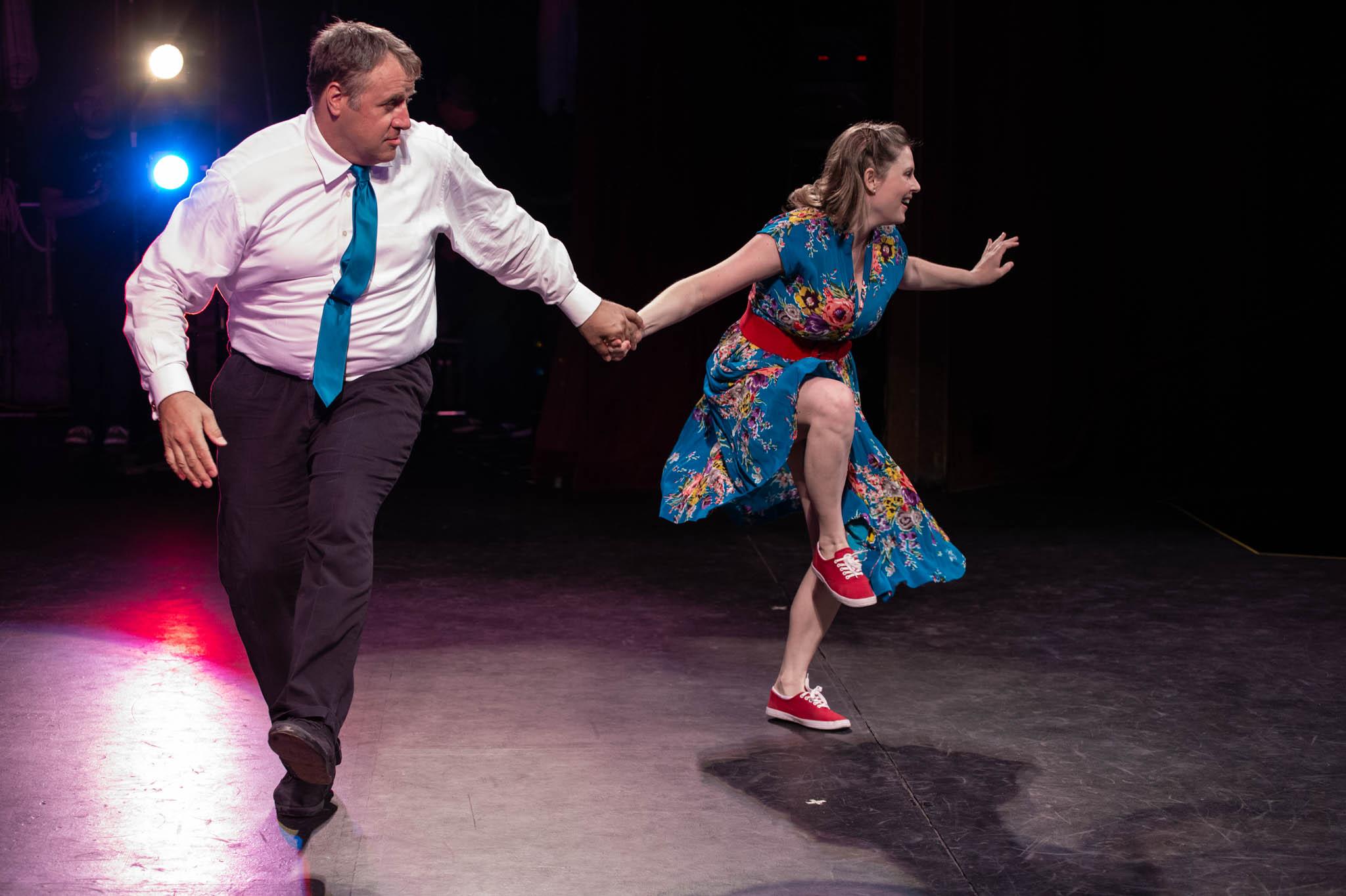 Tom Cross and Amber Kaufman Lindy Hop